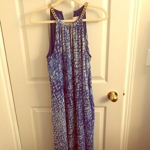 MICHAEL Michael Kors Dresses - Stunning Blue and Gold Michael Kors Party Dress